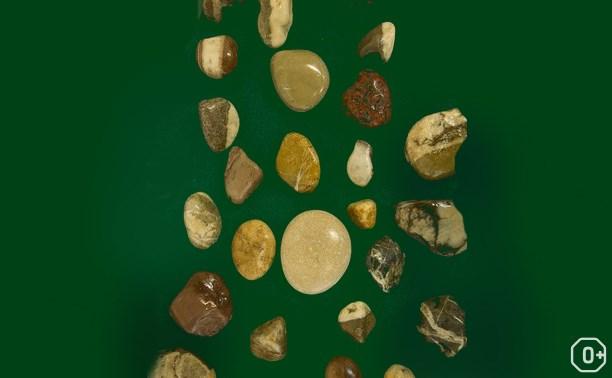 Магия речного камня с природным рисунком