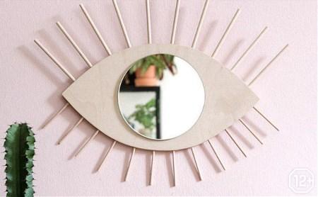 Основы дизайна интерьера: изготовление зеркала «Глаз» из дерева