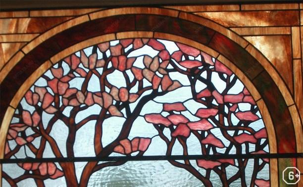 Весенний витраж. Роспись по стеклу