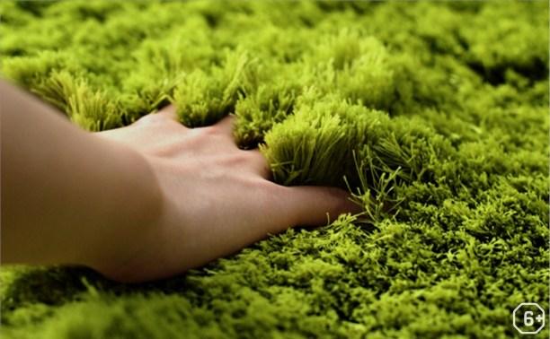 Декоративный коврик из трав