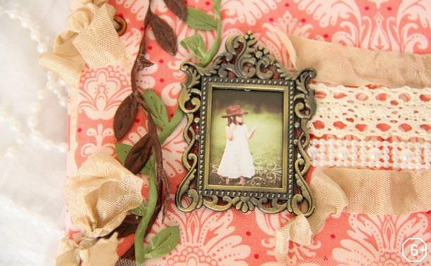 Екатерина Зернова: Блокнот с декором в стиле шебби-шик