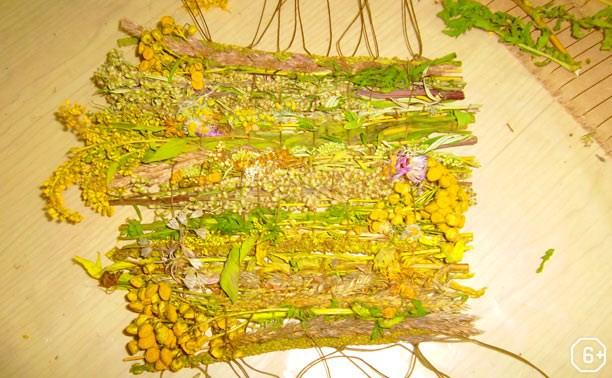 Мастер-класс по плетению гобелена из трав