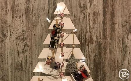 Основы дизайна интерьера: геометрическая новогодняя елка из дерева