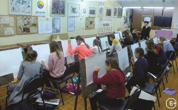 Работы учеников художественной школы им. В.Д. Поленова