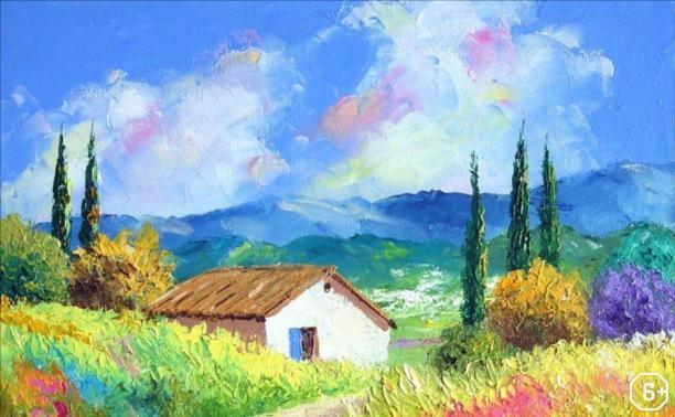Рисуем летний пейзаж