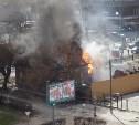 В центре Тулы горит частный дом