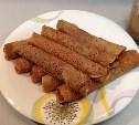 Голландские кофейные блинчики с медом, изюмом и орехами