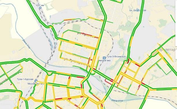 Сервисы, показывающие пробки в Туле