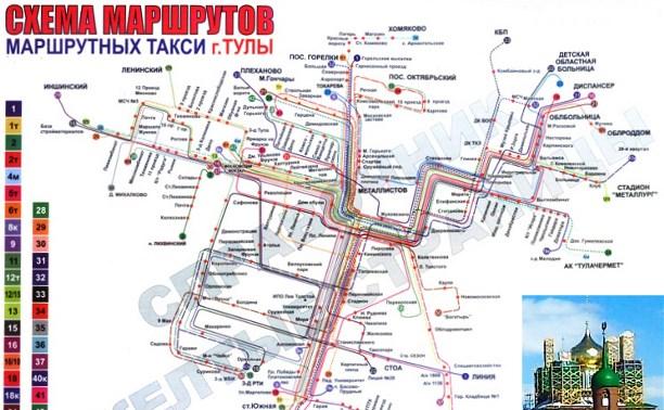 Схема маршрута 36 тула