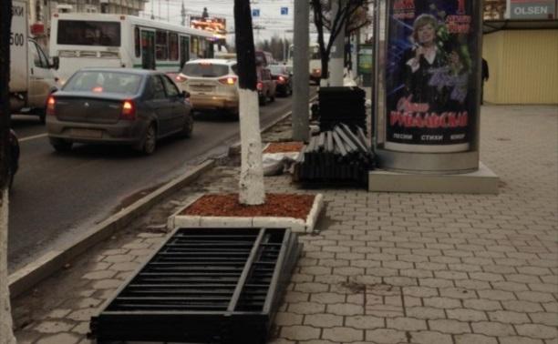 Обновляют ограду по пр.Ленина.