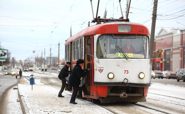 О сокращении трамваев в Туле.