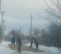 Долгожданный щебень на дороге