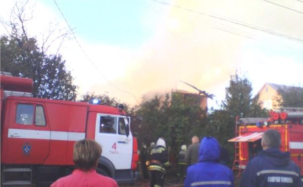 Сильный пожар на Шевченко
