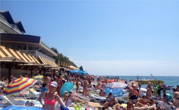 Пляж в Лазаревском, Сочи