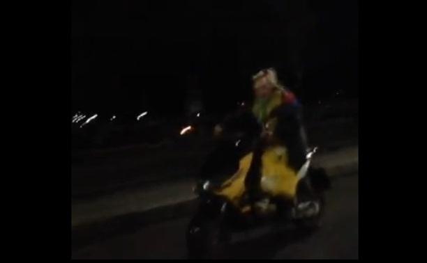 Ужасы ночной Тулы: клоун-скутерист!