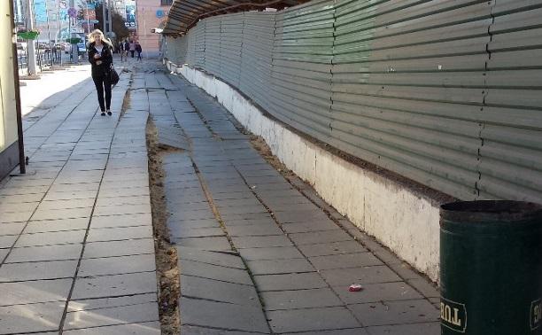 На ул. Советской вновь просел грунт