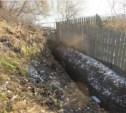 Сброс сточных вод в пруд