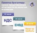 Памятка бухгалтеру: сроки представления отчетности по налогам и взносам