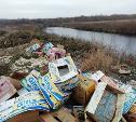 Помойка, или во что превращают берега рек!