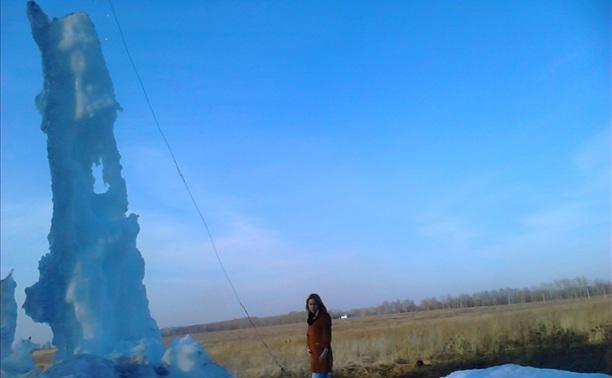 Пятиметровый сталагмит в Киреевском районе