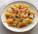 Рагу из овощей с курицей и фасолью