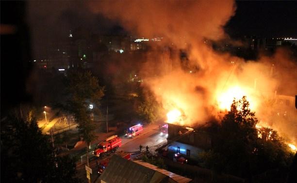 Очередной пожар в центре.