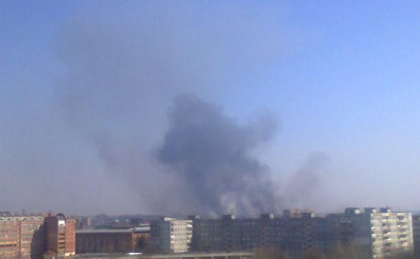 Что-то горит в центре Тулы