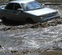 Дождь прошёл – дорогу затопило (до Гайдара надо плыть)