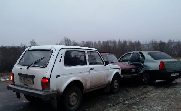 Тройное ДТП в районе Болохово
