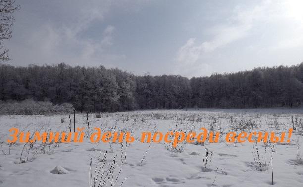 Зимний день посреди весны!
