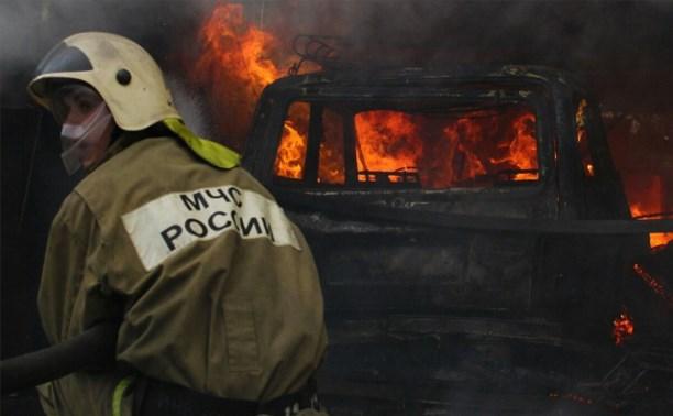 Пожар в Привокзальном районе.