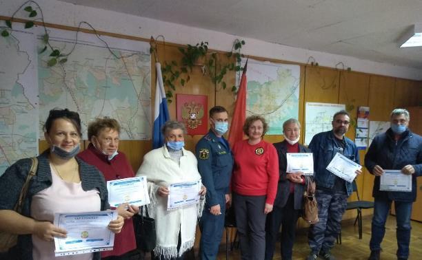 В Зареченском районе Тульской области прошли занятия по обучению старост сельских поселений