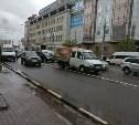 На советской авария: одна полоса для проезда
