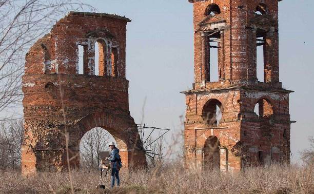 Село Кузовка с разрушенным храмом