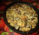 Картофель с яблоками и грибами