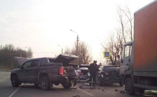 Авария из 4 машин на Веневском шоссе