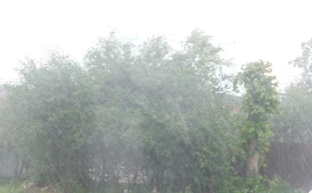 Сильный дождь, гроза и град