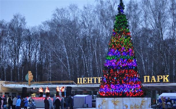 Открытие ёлки у парка Белоусова