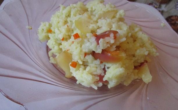 Сладкий рис с яблоками
