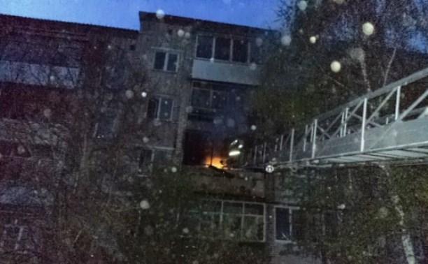 В Алексине в пятиэтажке сгорел балкон