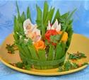 Блюда в весенних тонах