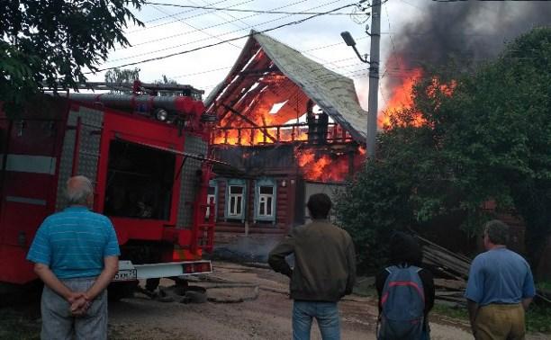 Пожар на патронной улице.
