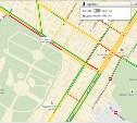 Пробка у парка по версии Яндекс.Карты