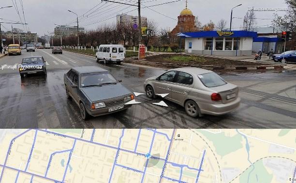 Нарушения ПДД продолжаются. Перекрёсток Пузакова-Демидовская