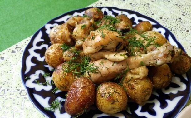 Жаркое из цыплёнка с картошечкой (казан-кабоб)