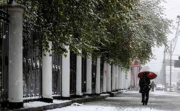 На Тулу идет снегопад?