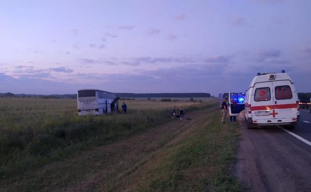 ДТП 10.07.2021 авария с автобусом на 159 км трассы М-6 Каспий в Серебряных Прудах