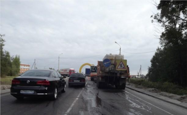 Укладка дороги в Иншинском