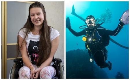 С инвалидной коляски – в открытое море: 17-летняя тулячка стала участником дайвинг-сафари