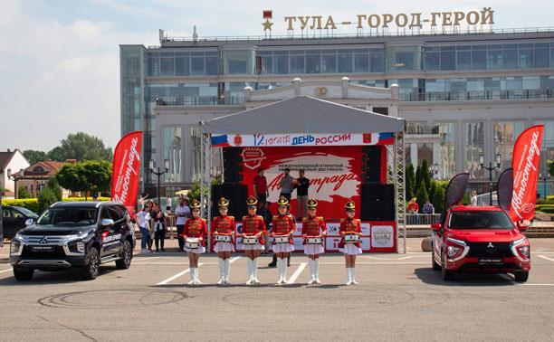 В День России тулякам показали мощь и красоту двух восхитительных новинок Mitsubishi